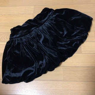 黒ベロア バルーンスカート