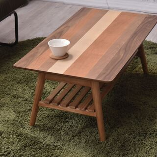 ■折りたたみセンターテーブル スクエア 4種の天然木■bbf-0392