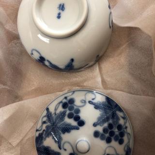 取引決定 ぶどう絵 お茶呑茶碗 【新品・未使用】 − 愛知県