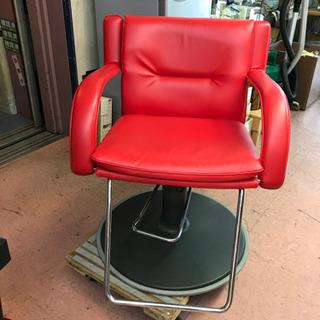 理美容椅子☆85649新明和スタイリッシュな赤
