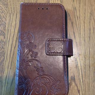 スマホケース iPhone6 茶色(柄入り)