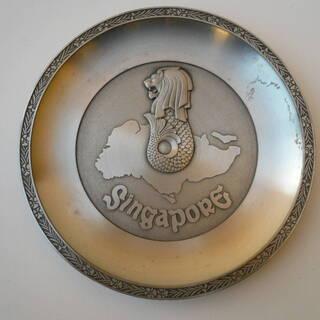 シンガポール マーライオン デコレーションプレート 飾り皿