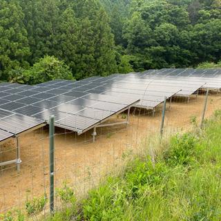 三重県内、近郊の太陽光発電所の管理致します。