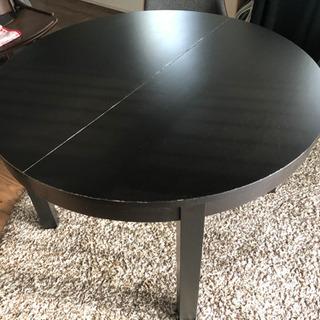 イケア 伸縮丸テーブル