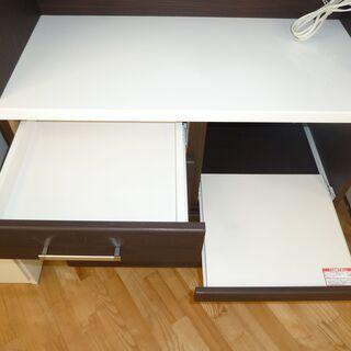 お買い得☆k172☆ニトリ☆食器棚・レンジボード☆ブラウン☆幅885㎜☆近隣配達、設置可能      - 家具