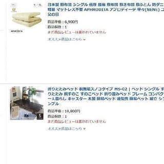 【ネット決済】折りたたみベッドと極厚敷布団
