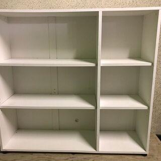 木製 3段 収納棚 本棚 ホワイト 幅120cm×奥行34…