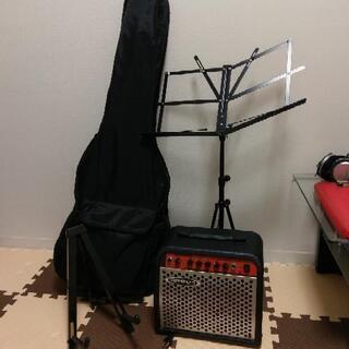 エレアコギター赤 中古 付属品セット