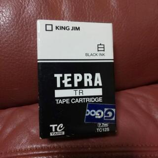 TEPRA<TR>テープカートリッジ白(黒インク)