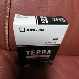 TEPRA<TR>テープカートリッジ白(黒インク) - 売ります・あげます