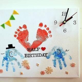 ららぽーと豊洲・赤ちゃんと世界に一つの手形アート時計3月5日
