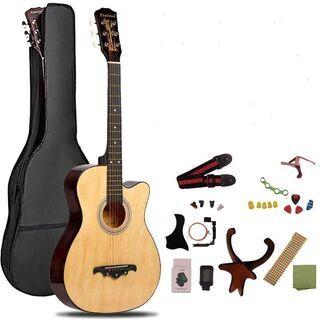 付属品が豊富に揃っている哀愁のアコーステック・ギター