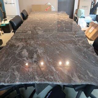 御影石のテーブル 幅1.2m×長さ3.3m