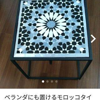 ベランダにも置けるモザイクタイルテーブル