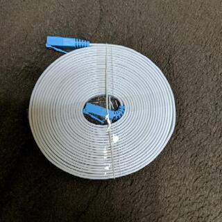 うす型LANケーブル 長さ4.5m 厚み1.4mm