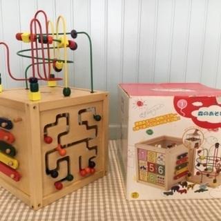 森のあそび箱、ぐらぐらくるくる 知育玩具 木製おもちゃ