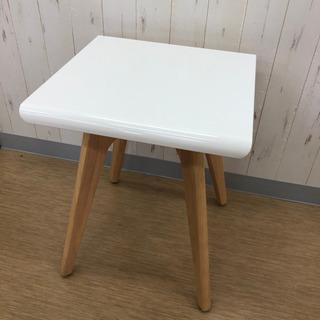 ニトリ☆サイドテーブル☆白×ナチュラル☆ソファーの横に置く…