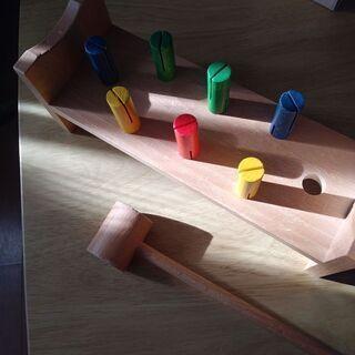 木のおもちゃ ドイツ産 金づちトントン ハンマートイ
