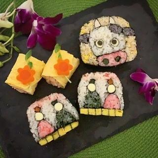 お雛様の飾り巻寿司🎎