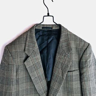 vintage テーラードジャケット アルパカ混 ウール 日本製