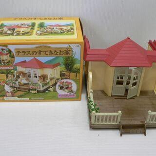 シルバニア ファミリー テラスのすてきなお家 人形遊び プレゼン...