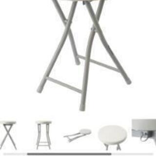 折りたたみチェアー  丸椅子  【1脚500円】2脚ありま…