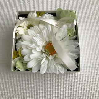 美品 造花 リングピロー リングケース ウェディング