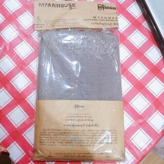 [新品未開封] ミャンマー伝統手織り製 オーガニック素材スカーフ