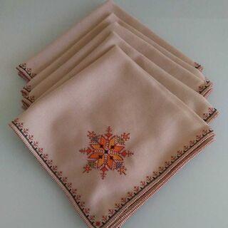 モロッコ手刺繍ナフキン5枚