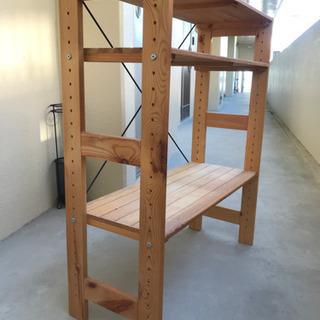 【ネット決済】木製棚 あげます