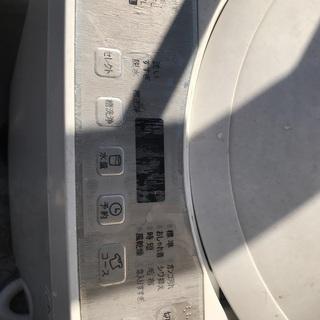 シャープ 2018年製 全自動洗濯機5.5kg 保証書付 - 生駒郡