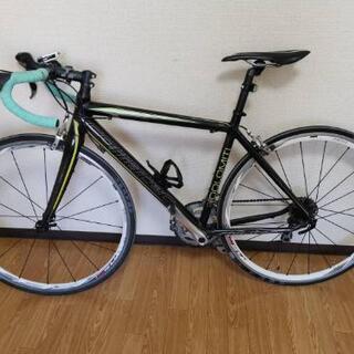 【ネット決済】ロードバイク LEDライト・空気いれ・縦置きスタンド付き