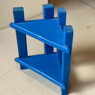 小さなコーナー収納/青色