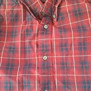 長袖シャツ 赤系チェック柄 Sサイズ ユニクロ製 ※値下げしました。