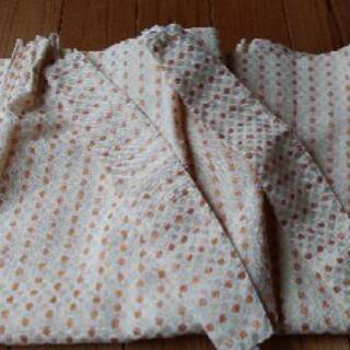 ニトリカーテン オレンジ 2枚組 フック付