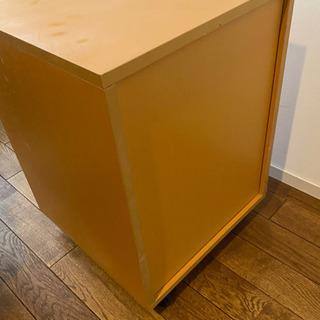 デスクサイド 木製キャビネット ワゴン 黄色 − 東京都