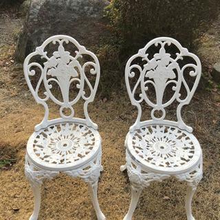 ガーデン用椅子 2脚セット(値下げしました)