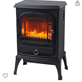 暖炉型 ヒーター ブラック