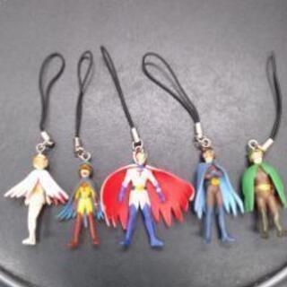 ガッチャマン フィギュア人形ストラップ5体セット