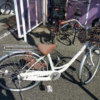 【ネット決済】白い自転車