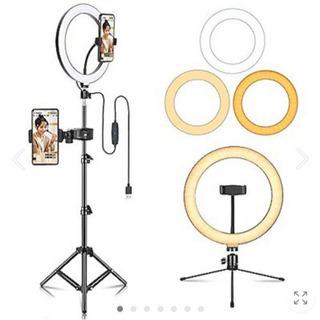 【ネット決済・配送可】LED照明キット外径10インチ 撮影用ライ...