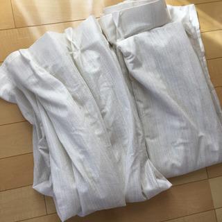 カーテン2枚セット カーテン生地 ホワイト レースカーテン