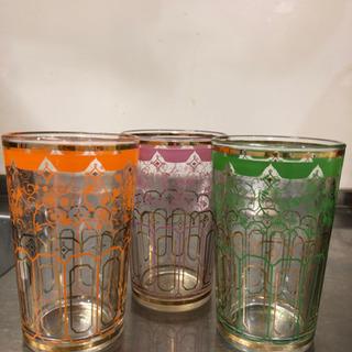 モロッコ風 グラス3個セット