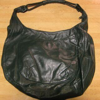 深緑色 レザートートバッグ 未使用