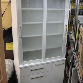 2ドアキッチンボード ダイニングボード 引き戸 食器棚 食器収納...