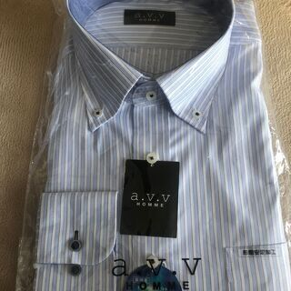 A.V.V HOMME 長袖Yシャツ ストライプ