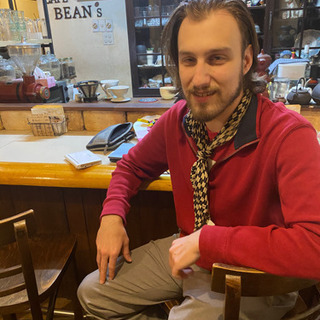 中央区桑園のカフェで、ネイティブアメリカ人と英会話してみま…