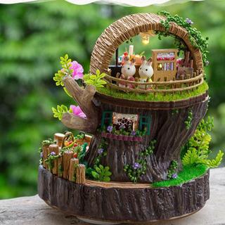 トトロの小屋 完成品 DIY品 オルゴール付き