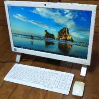 【ネット決済・配送可】FUJITSU一体型パソコンFMVF52MW