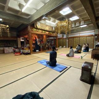 お寺でキャンドルヨガ 毎週第4土曜日18時〜 - 教室・スクール